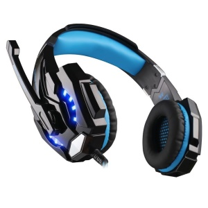 KOTION EACH G9000 Over-Ear 3.5mm Stereo Gaming Headphone with Mic LED Light for Cellphone/PC/PS4 - Blue