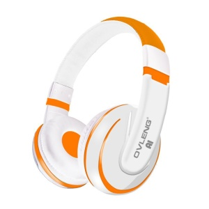 OVLENG A1 3.5mm Over-ear Stereo Headphone with Mic for iPhone Samsung - Orange
