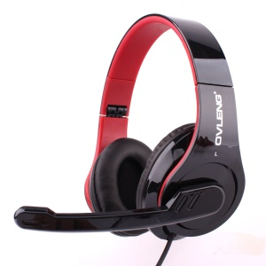 OVLENG Q8 USB Port Super Bass Headset with Mic for Computer - Black