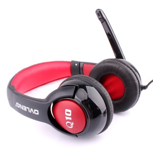 OVLENG Q10 Computer Over-Ear USB Jack Headset with Mic and Line Controller