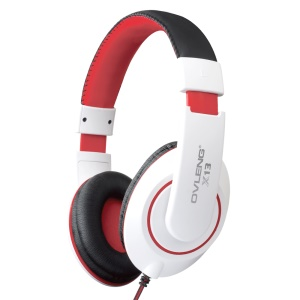OVLENG X13 3.5mm Over-ear Stereo Headphone with Mic - White