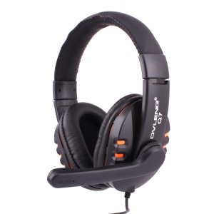 OVLENG Q7 Stereo Over-Ear USB Jack Headset with Mic for PC Laptop Notebook - Orange
