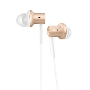 XIAOMI Piston Iron Dynamic In-ear Earphone with Mic Remote Control for Xiaomi Samsung Sony iPhone - Gold