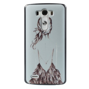 Sketch Back of Girl PC Cover for LG G3 D855 D851 D850