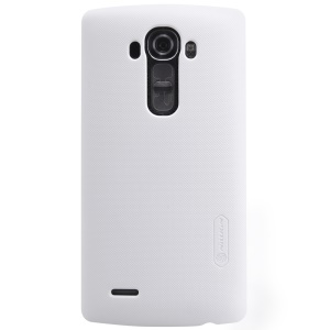 NILLKIN Super Frosted Shield Hard Shell Case for LG G4 Stylus G Stylo with Screen Protector - White