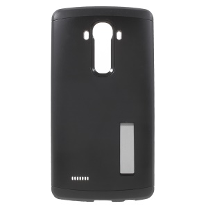 Tough Armor PC + TPU Hybrid Phone Case for LG G4 with Kickstand - Black