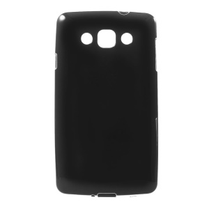 For LG L60 X145 Solid Color Glossy Protective TPU Cover - Black