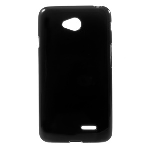 Black Solid Color Glossy Soft TPU Case for LG L65 D280 D285