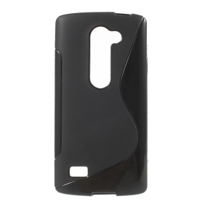 S Shape TPU Case for LG Leon 4G LTE H340N - Black