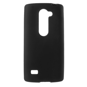 Matte Flexible TPU Skin Case for LG Leon 4G LTE H340N / Leon H320 - Black