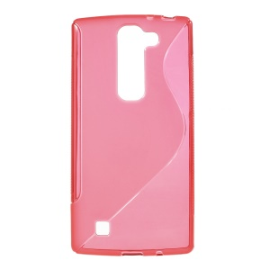 S Shape TPU Cover Case for LG Magna H502F H500F / G4c H525N - Red