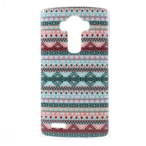 For LG G4 Gel TPU Phone Cover - Aztec Tribal Pattern