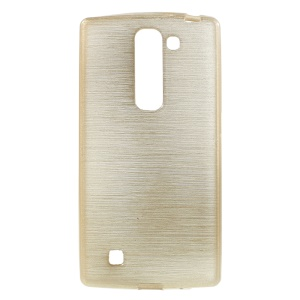 Glossy Outer Brushed Inner TPU Back Case for LG Magna H502F H500F / G4c H525N - Champagne