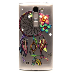 Embossed TPU Skin Cover for LG Magna H502F H500F / G4c H525N - Colored Dreamcatcher Flowers