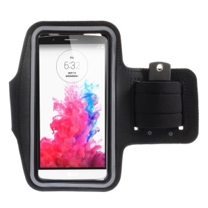 Gym Running Jogging Sports Armband Case for LG G3 D850 D851 D855 - Black