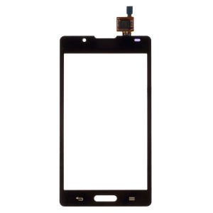 For LG Optimus L7 II P710 OEM Digitizer Touch Screen with Adhesive Sticker - Black