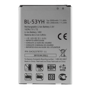 OEM 3000mAh Li-ion Battery Replacement for LG G3 D850 D855 LS990