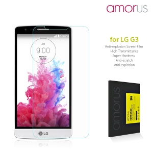 AMORUS for LG G3 D850 LS990 Tempered Glass Screen Protector Rounded Edge