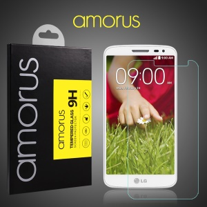 AMORUS 9H Tempered Glass Screen Protector for LG G2 Mini D610 D618 D620 Arc Edge