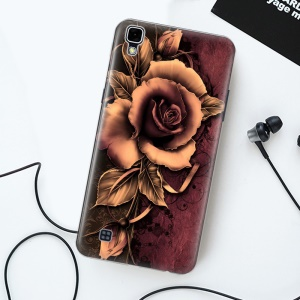 Softlyfit Embossed TPU Mobile Case for LG X Style - Gothic Rose