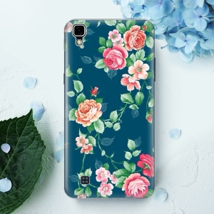 Softlyfit Embossing Patterned TPU Shell Cover for LG X Style - Blooming Roses