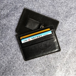 PU Leather Money Clip Wallet Card Sleeve Card Holder