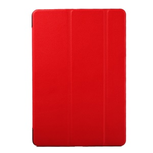 For HTC Nexus 9 Tri-fold Stand Leather Protective Case Shell - Red