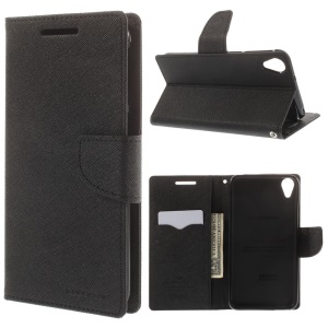 Mercury GOOSPERY Fancy Diary Wallet Leather Stand Case for HTC Desire 820 / Dual Sim - Black