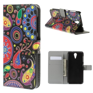 Paisley Flowers Leather Case for HTC Desire 620 Dual Sim / 820 Mini D820mu