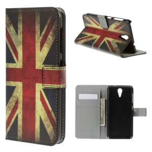 Retro Union Jack Flag Leather Stand Case for HTC Desire 620 Dual Sim / 820 Mini D820mu