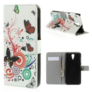 Butterfly Circles Leather Magnetic Case for HTC Desire 620 Dual Sim / 820 Mini D820mu