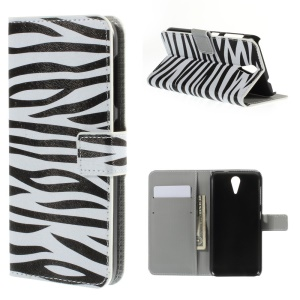 Zebra Stripes Leather Cover for HTC Desire 620 Dual Sim / 820 Mini D820mu
