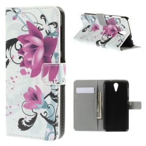 Kapok Flower Leather Cover for HTC Desire 620 Dual Sim / 820 Mini D820mu