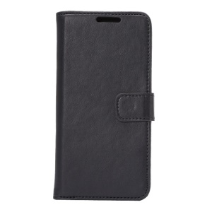 Retro Style Leather Wallet Cover for HTC One M9 with Bracket - Black
