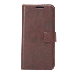 Retro Style Leather Wallet Case for HTC One M9 with Bracket - Coffee