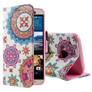 Callfree Wallet Stand Leather Flip Cover for HTC One M9 - Mandala Style Pattern