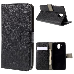 Litchi Texture Wallet Leather Stand Case for HTC Desire 526G+ Dual Sim - Black