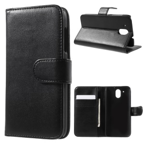 Wallet Leather Stand Case for HTC Desire 526 / 526G+ Dual SIM - Black