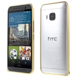 LOVE MEI Metal Frame Cover for HTC One M9 (Curved Corners) - Gold