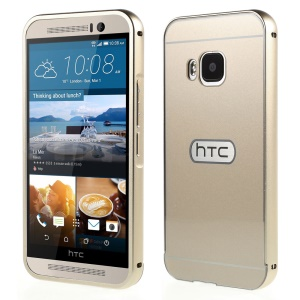 Metal Frame Slide-on Plastic Back Shell for HTC One M9 - Champagne