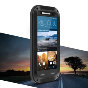 LOVE MEI Shockproof Dropproof Dustproof Case for HTC One M9 - Black
