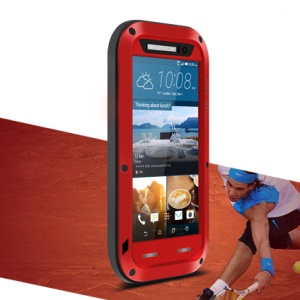 LOVE MEI Shockproof Dropproof Dustproof Shell for HTC One M9 - Red