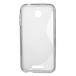 S Shape TPU Case Shell for HTC Desire 510 - Grey