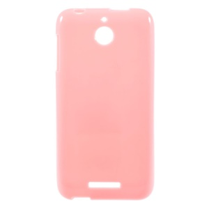 Solid Color Glossy TPU Shell for HTC Desire 510 - Pink