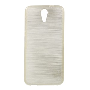Glossy Outer Brushed Inner TPU Cover for HTC Desire 620 Dual Sim / 820 Mini D820mu - Gold