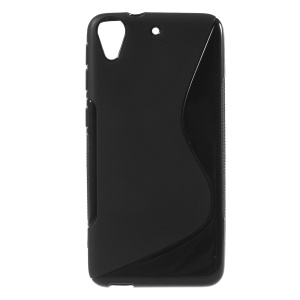 S Shape Anti-slip TPU Gel Cover for HTC Desire 626 - Black