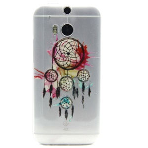 Embossed Design TPU Gel Cover for HTC One M8 - Dream Catcher