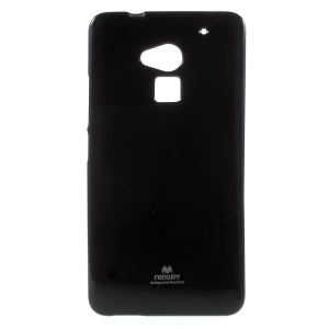 NEWSETS MERCURY Glitter Powder TPU Case for HTC One Max T6 - Black