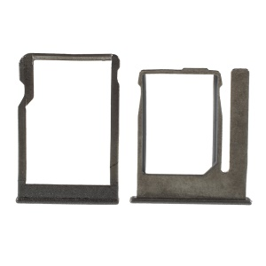OEM SIM Card and SD Card Tray Holder Replacement for HTC One M8 Mini - Grey