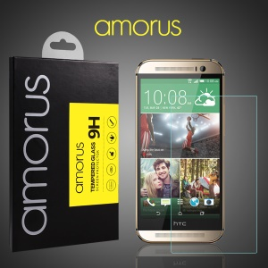 AMORUS for HTC One M8 Tempered Glass Screen Protector Rounded Edge